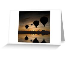 Sunset Balloon Reflection Greeting Card