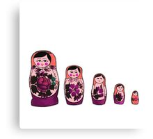 Russian Nesting Dolls - Red Canvas Print
