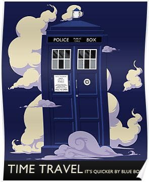 TIME TRAVEL -It&#x27;s Quicker by Blue Box by DinobotTees