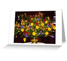 0109  Floral Arrangement for Easter Sunday Greeting Card