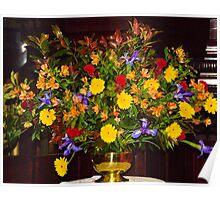 0109  Floral Arrangement for Easter Sunday Poster