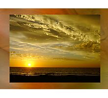 Framed Sunset - Ocean Reef, Perth, Western Australia Photographic Print