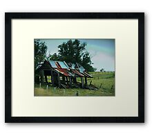 The next gust of wind could see the end of me Framed Print