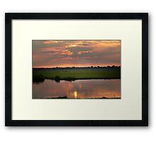 A nice evening Framed Print