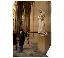 Statue of Christ in St Vitus Cathedral Poster