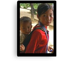 Red Dao Girl Canvas Print