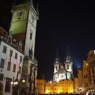 Old Town Square at Night, Prague by SerenaB