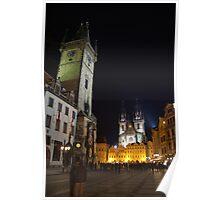 Old Town Square at Night, Prague Poster