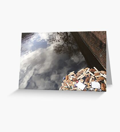 Waste, Wall and Reflected Sky Greeting Card