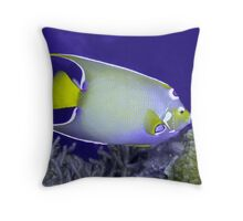 Queen Angelfish From Side Throw Pillow