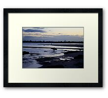 Late Surf Framed Print