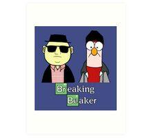 Breaking Bad Beaker & Bunsen Art Print