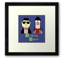 Breaking Bad Beaker & Bunsen Framed Print