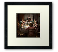 Family - Home for the holidays 1942 Framed Print