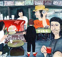 Barista on Ann Street by Kathleen Duronio