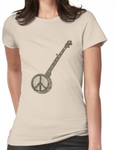 Peace Banjo Womens Fitted T-Shirt