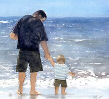 Dad and son by Michelle Gilmore
