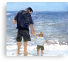 Dad and son Canvas Print
