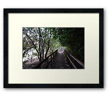 Tweed Riverside Boardwalk Framed Print