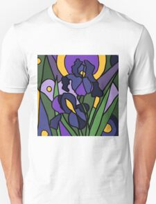 Awesome Blue Iris Floral Abstract Original Unisex T-Shirt