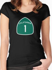 California State Route 1, USA Women's Fitted Scoop T-Shirt