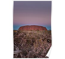Sunset at Uluru Poster