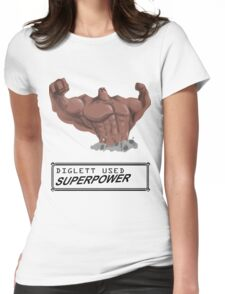 DIGLETT - SUPERPOWER!!! Womens Fitted T-Shirt