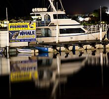 Merimbula at night. by John Vandeven