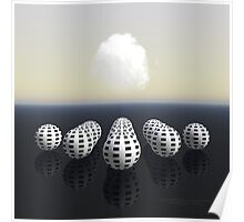 13 Spheres on a Cloudy Day Poster