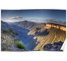 The First Step is A Doozy - Kanangra Walls, Blue Mountains World Heritage Area - The HDR Experience Poster