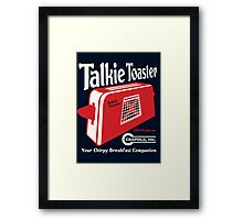 Talkie Toaster - Your Chirpy Breakfast Companion Framed Print