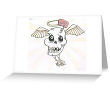 angel from bellow ground with no hair. Greeting Card