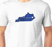 Born and Raised Blue Kentucky Unisex T-Shirt
