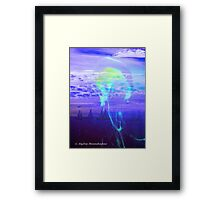 Jellyfish with Yachts at Twilight Framed Print