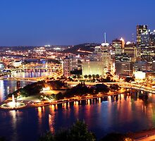 Pittsburgh at Night by searchlight
