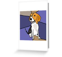 Funny Beagle Puppy Dog Abstract Original Greeting Card