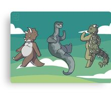 Mini Dinosaurs 2 Canvas Print