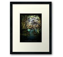 Dalienutopia - Moody Blue Framed Print