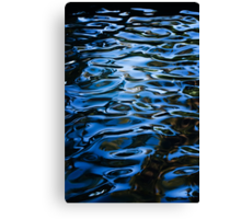 Waterpatterns in Blue Canvas Print