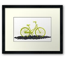 Bicycle triumphs traffic Framed Print