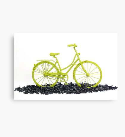 Bicycle triumphs traffic Canvas Print