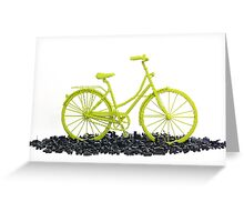 Bicycle triumphs traffic Greeting Card