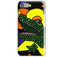 Funky Alligator Abstract Art Original iPhone Case/Skin