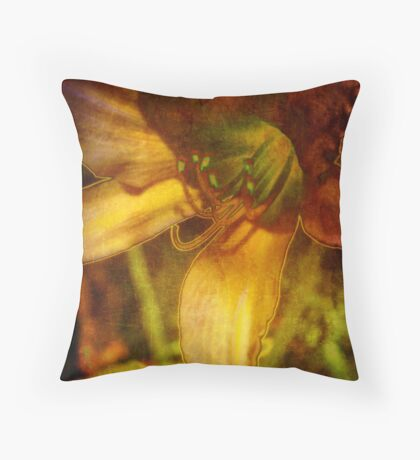 Digital Abstract Lily Throw Pillow