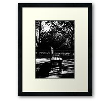 Bench. Framed Print