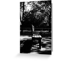 Bench. Greeting Card