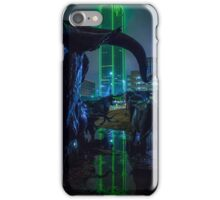 Foggy Pioneer Plaza Cattle Drive at Night iPhone Case/Skin