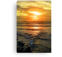 beal beach sunset near ballybunion Canvas Print