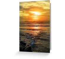 beal beach sunset near ballybunion Greeting Card