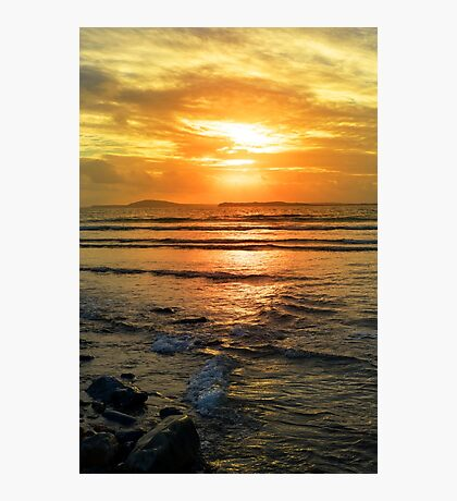 beal beach sunset near ballybunion Photographic Print